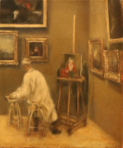 A Student Copying at the Louvre