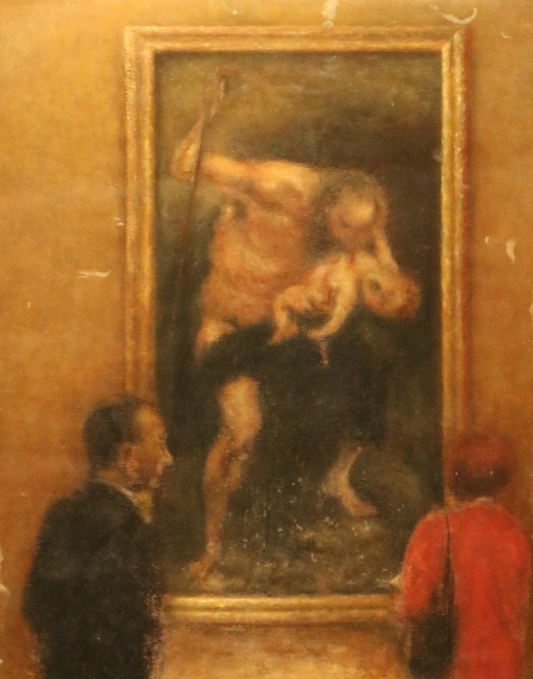 Saturn Devouring His Son (after Rubens; fragment of a larger composition)
